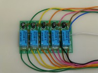 5回路リレー基板 DC24V入力、無電圧接点出力基板