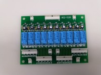 10回路リレー基板 DC24V入力、無電圧接点出力基板